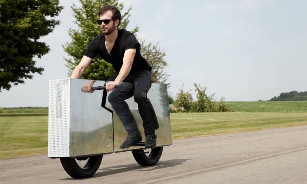 Le top du cool, c'est cette moto-radiateur électrique