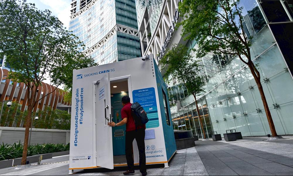 À Singapour, ces cabines pour fumeurs permettent de dépolluer l'air