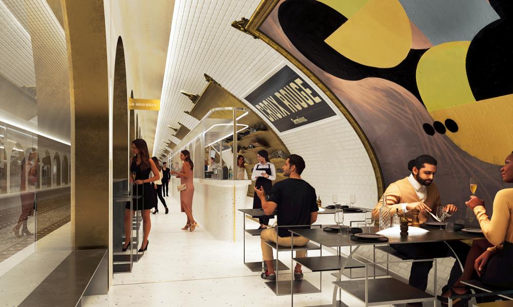 Le Terminus: une station de métro transformée en restaurant souterrain