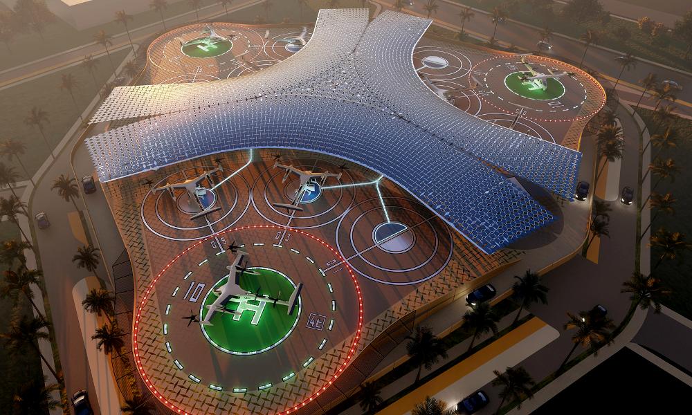 Uber dévoile les incroyables aéroports de ses futurs taxis volants