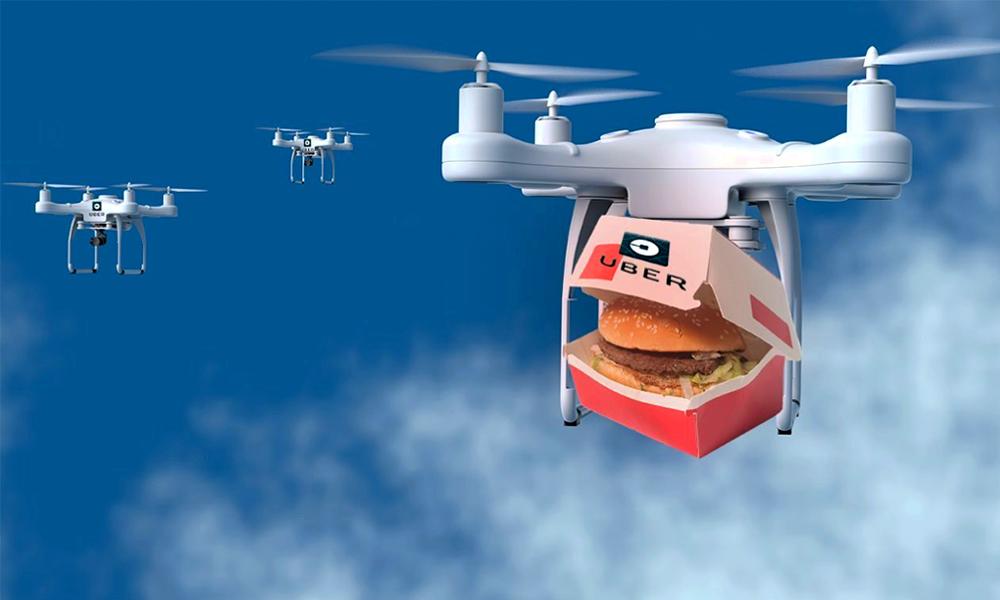 uber burger drones