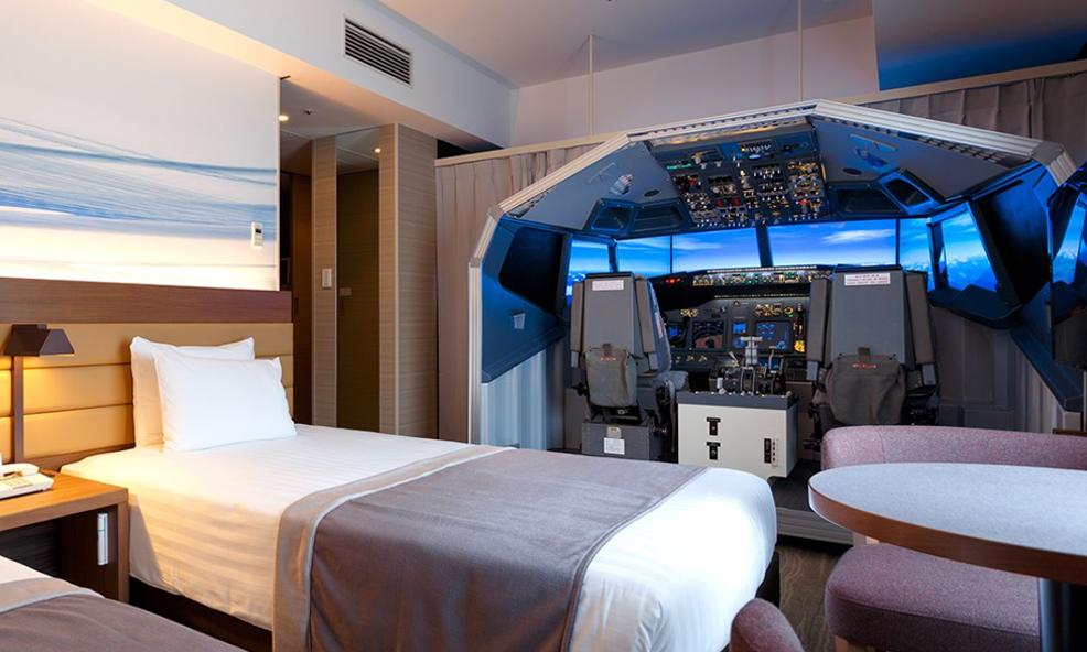 Dans cet hôtel, les clients s'envoient en l'air dans un simulateur de vol
