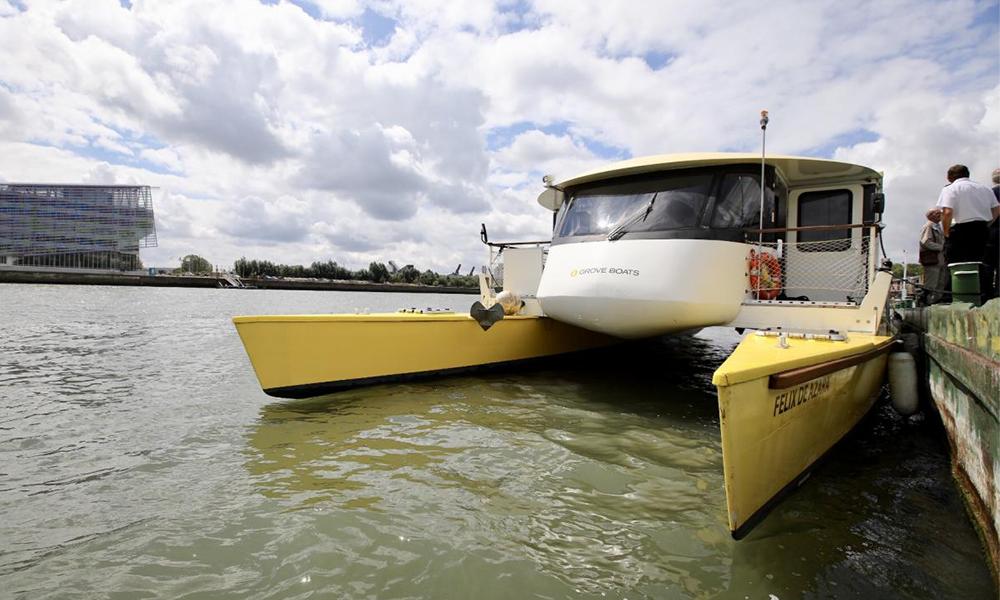 Naviguer sans polluer : Rouen teste une navette solaire pour traverser la Seine