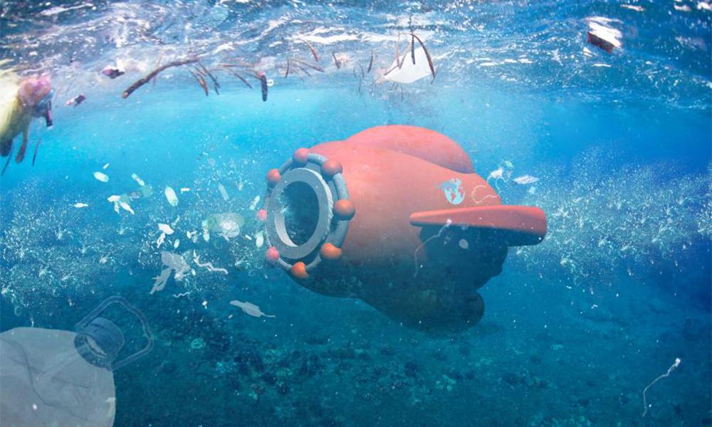 Pollution plastique : voici Fischy, le drone français qui veut nettoyer les océans