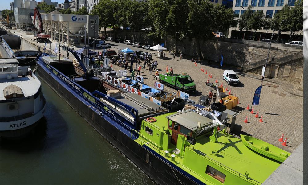 Paris teste une péniche-déchetterie pour réduire les camions bennes