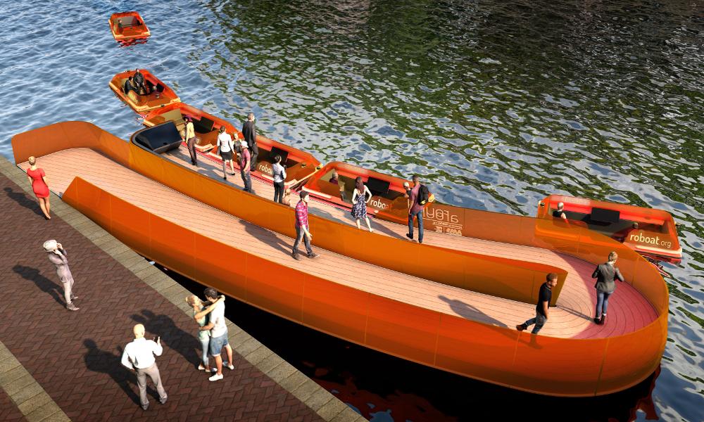 Amsterdam développe des robots-bateaux qui se transforment en pont