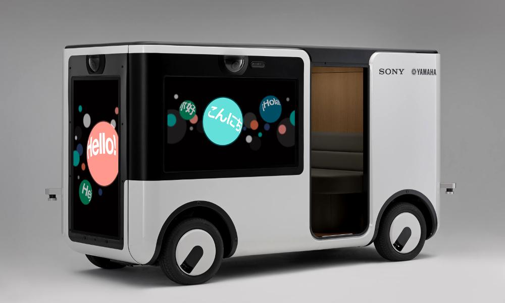 Cette navette autonome abrite une salle de cinéma en 4K
