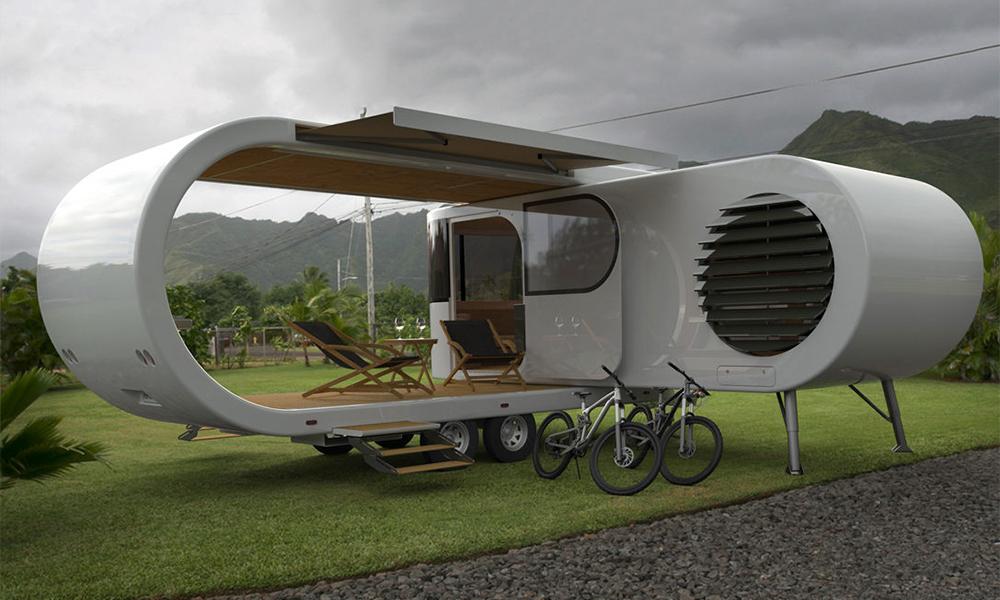Le camping du futur, c'est cette caravane qui s'ouvre comme un vaisseau spacieux