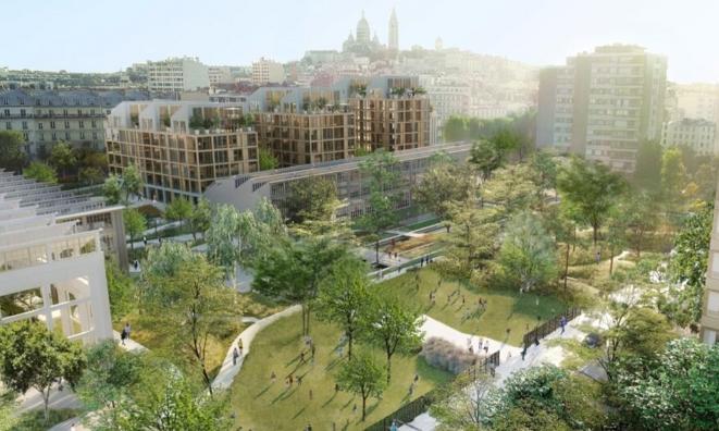 En plein Paris, un ancien site SNCF recyclé en cool quartier 0 carbone