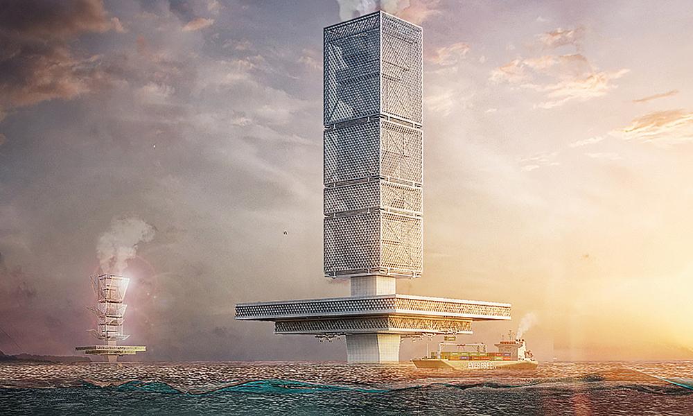 Ce gratte-ciel flottant peut aussi nettoyer les océans