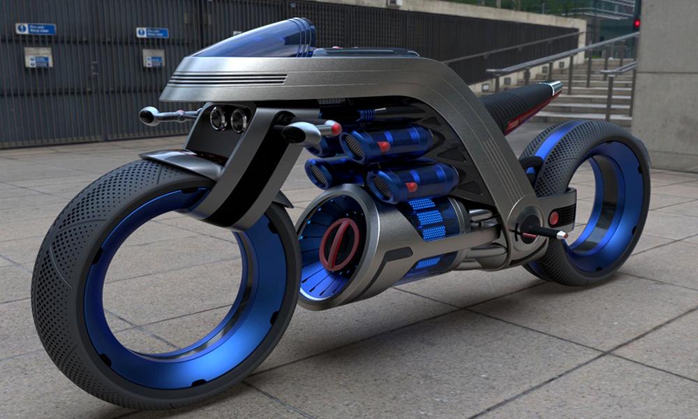 Il invente la moto du futur en s'inspirant de son ventilateur Dyson