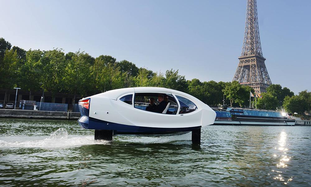 Pas trop tôt : les taxis de SeaBubbles pourraient voler sur la Seine dès 2020