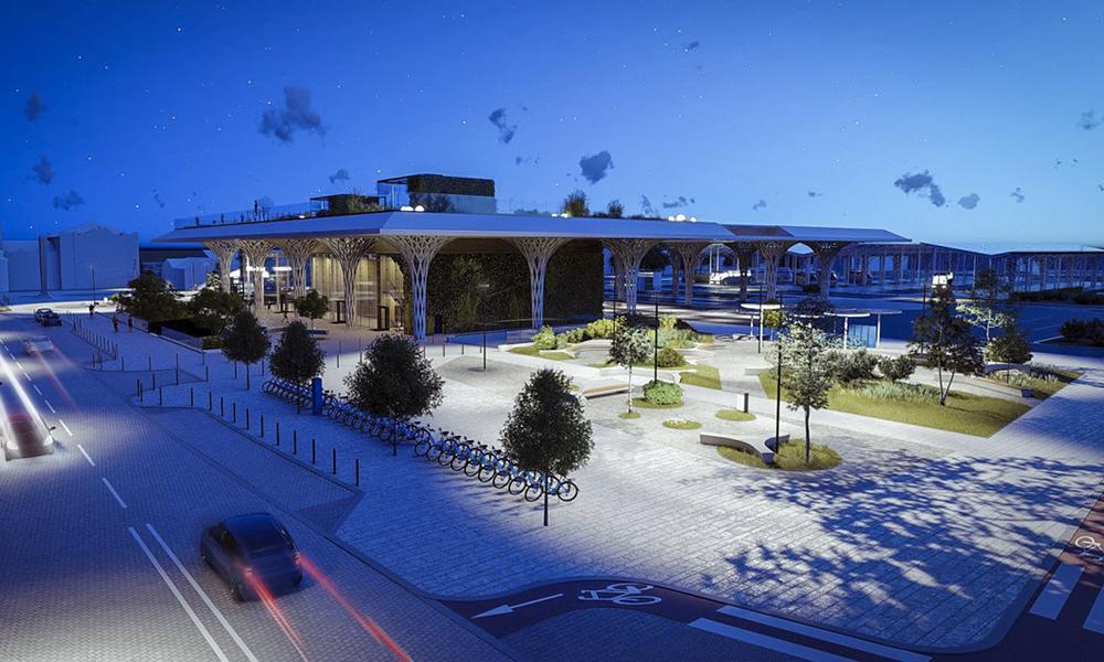 En Pologne, cette station de bus végétalisée détruit les nuages de pollution