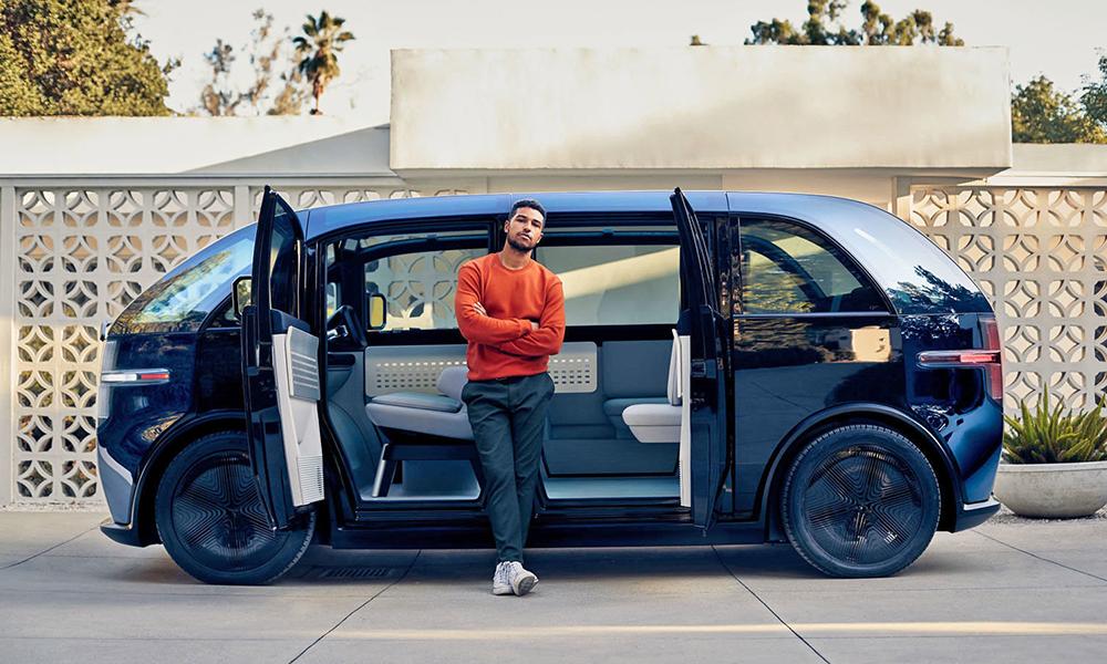 Ce van électrique n'est pas à vendre, il est à louer