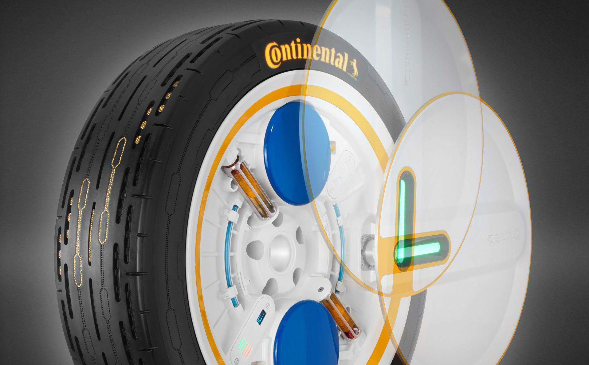 Continental invente le pneu intelligent qui se gonfle tout seul