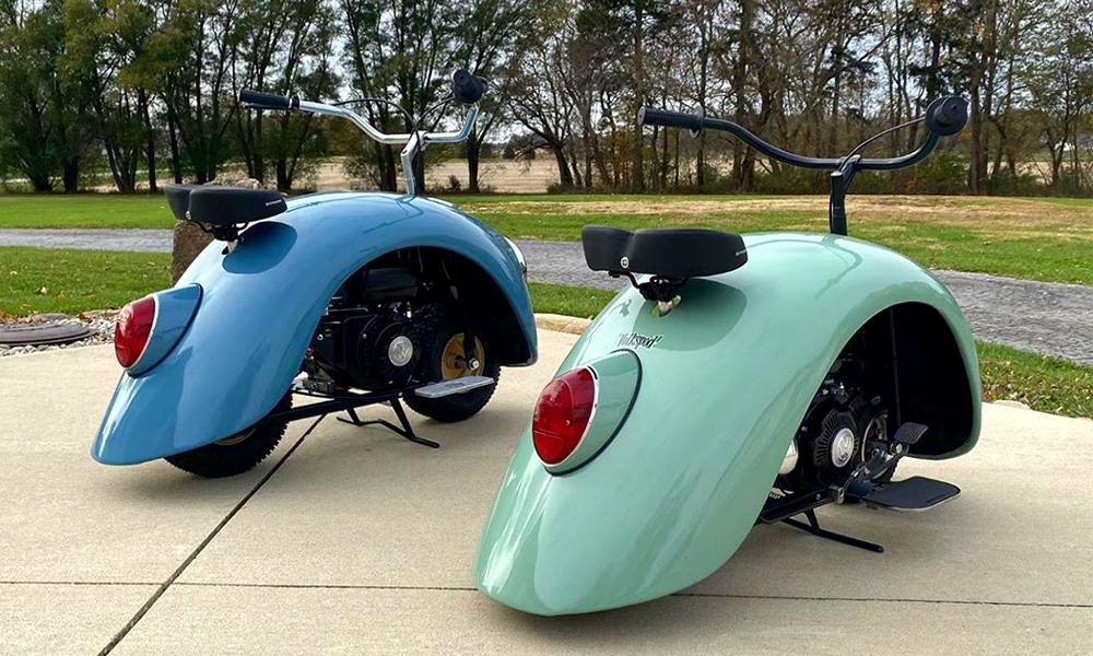 Les nostalgiques vont adorer cette Coccinelle recyclée en scooter vintage