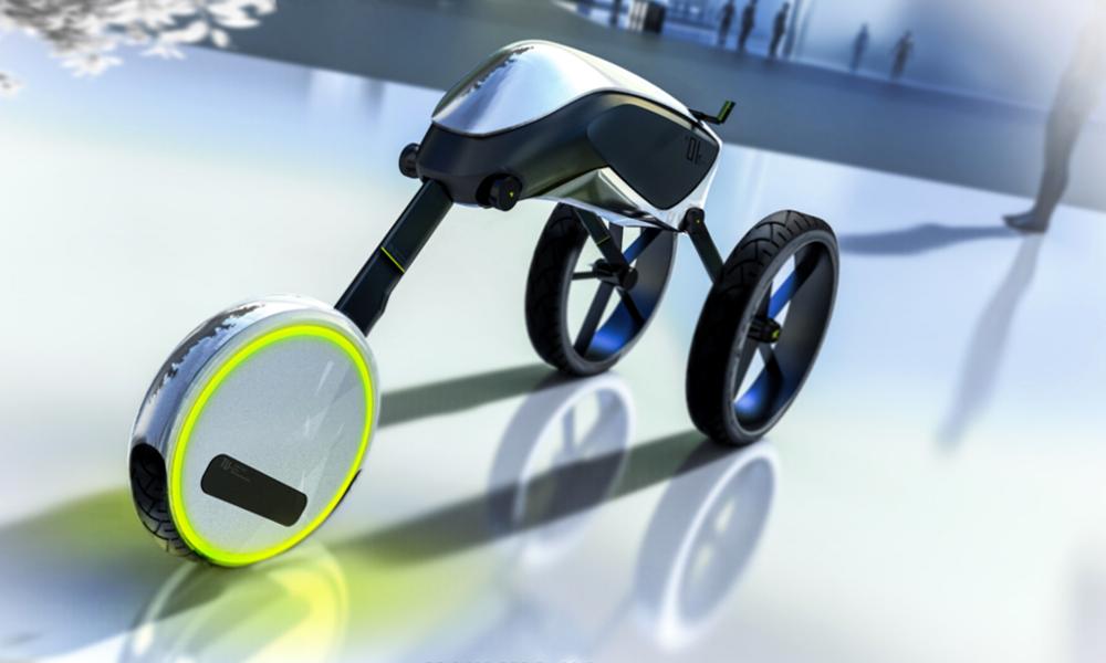 """Le """"Motus"""", un scooter électrique à trois roues venu de l'espace"""