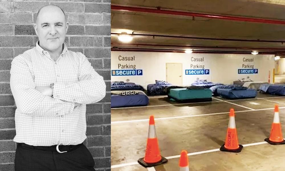 Cet homme transforme les parkings vides en hôtels pour SDF