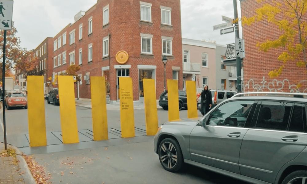 Attention les yeux : le passage piéton le plus sécurisant du monde se trouve au Québec