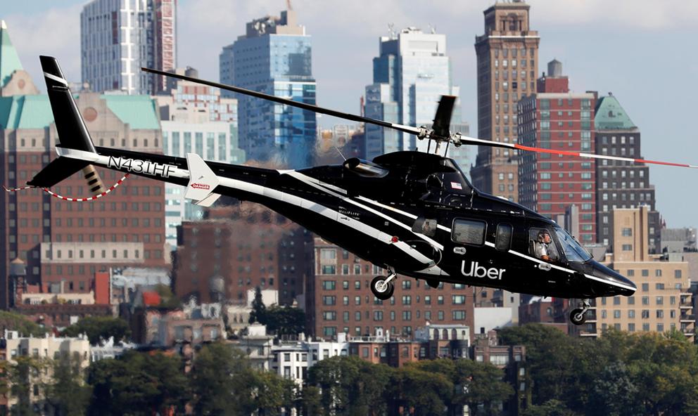 À New York, prendre un hélicoptère Uber coûte parfois moins cher que le taxi