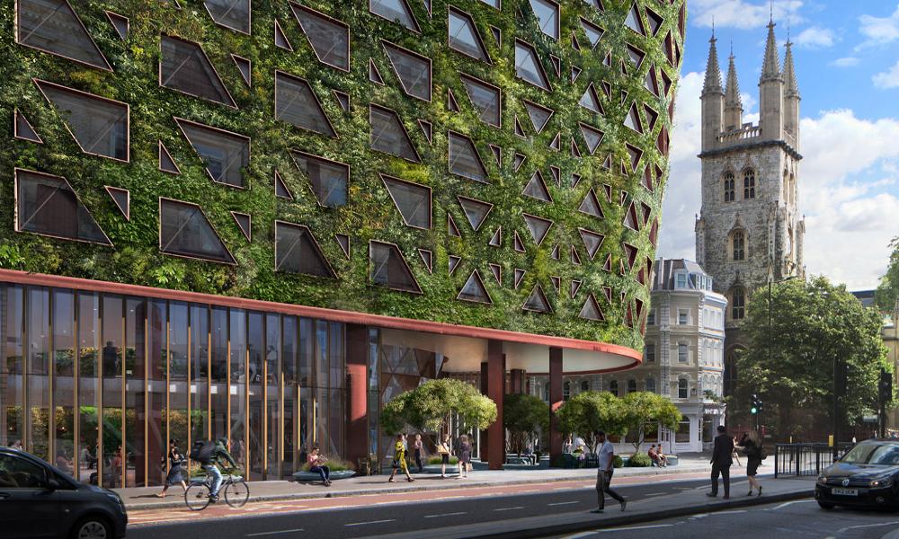 Pour dépolluer Londres, ce mur de plantes va absorber 8 tonnes de CO2 par an