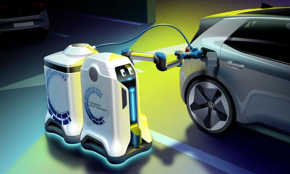 Le pompiste du futur, c'est ce robot-rechargeur de voiture électrique