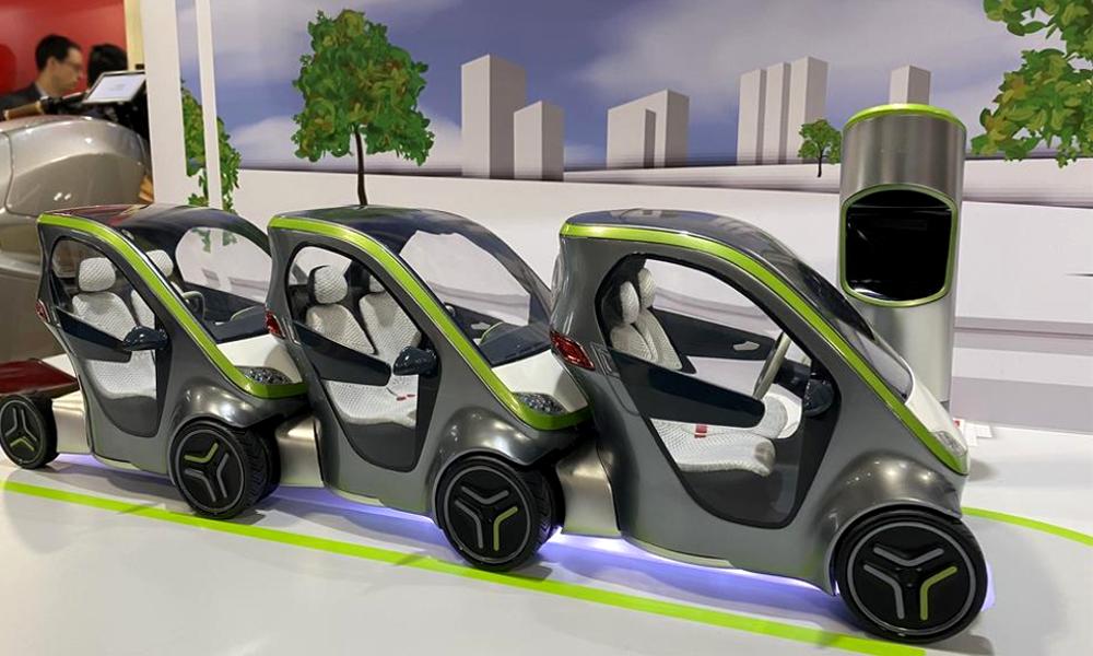 Kiwee : des voitures en libre-service qui s'emboîtent comme des caddies