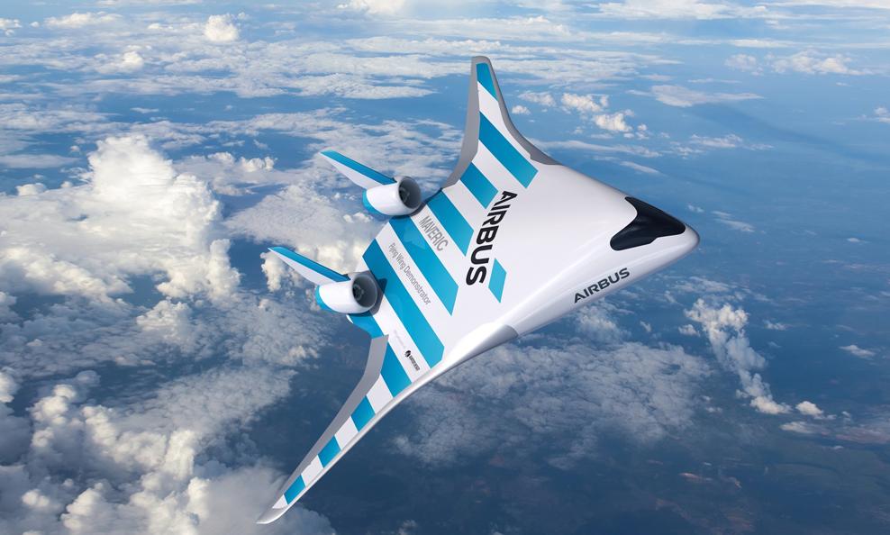 """Airbus dévoile son """"aile volante"""", un avion 20% plus écolo"""