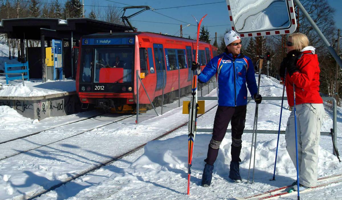 En Norvège, cette station de métro vous dépose devant les pistes de ski
