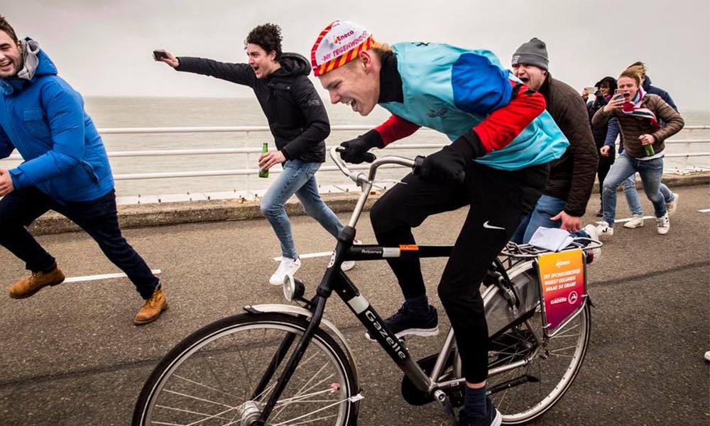 Aux Pays-Bas, cette course de vélo n'a lieu qu'en cas de grosse tempête