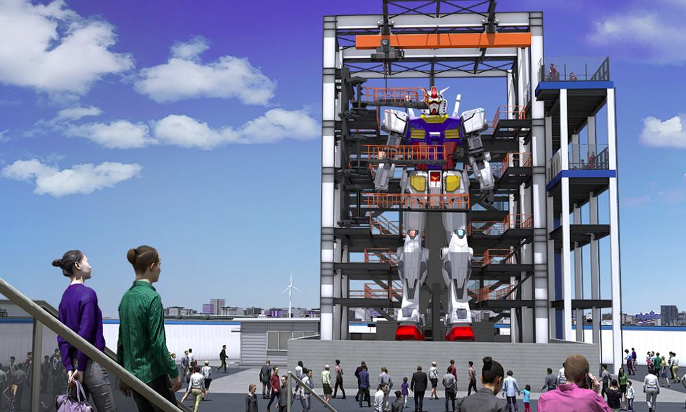 Au Japon, ce Gundam de 18 mètres de haut sera bientôt en marche
