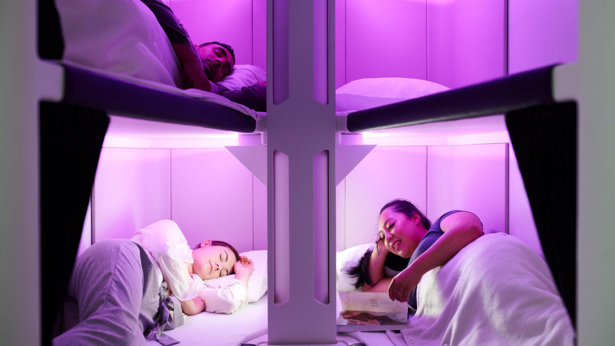 Dormir dans un avion comme à la maison, c'est possible avec cette compagnie