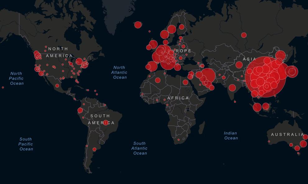 Une carte pour comprendre comment le coronavirus a voyagé sur toute la planète