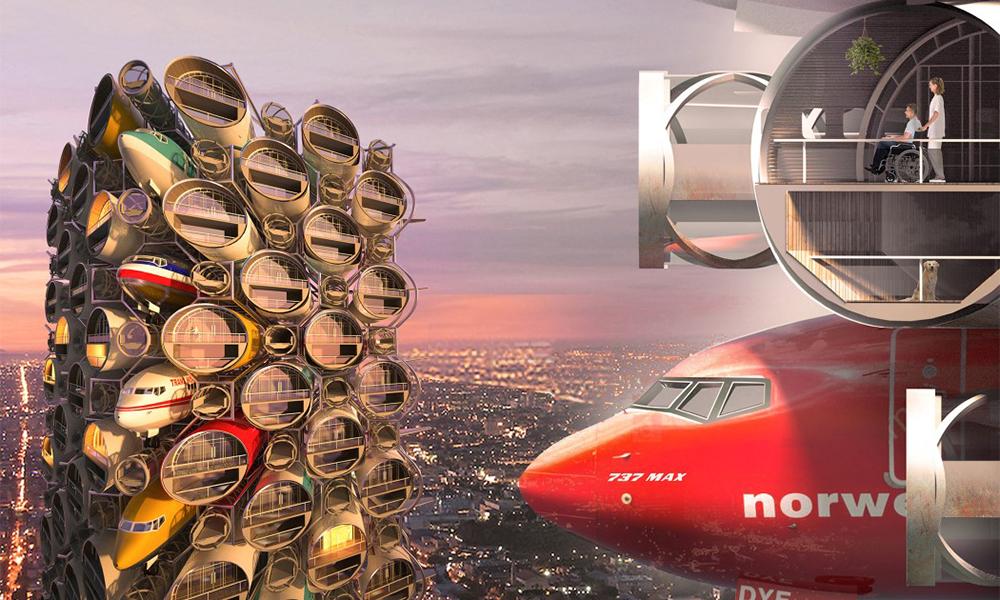 Idée du siècle : construire un immeuble avec des Boeing 737 MAX