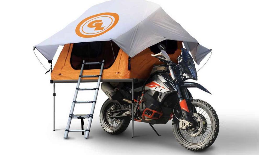 Prenez de la hauteur avec cette tente spécial moto