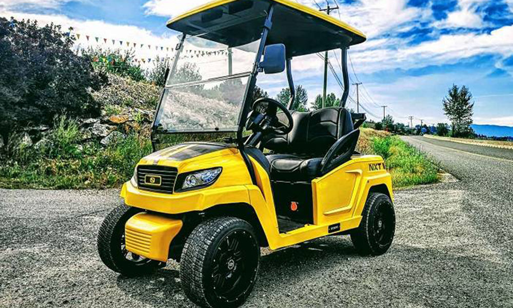 Au Canada, on peut rouler partout avec ces voiturettes de golf électriques
