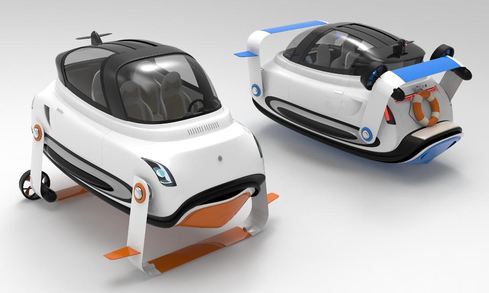 Hors-bord, voiture volante ou navette électrique: cette capsule peut tout faire