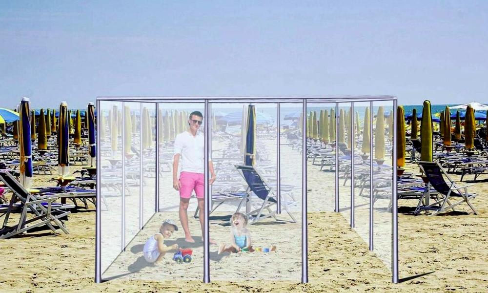 Un été sans coronavirus grâce à ces cabines de plage en Plexiglas