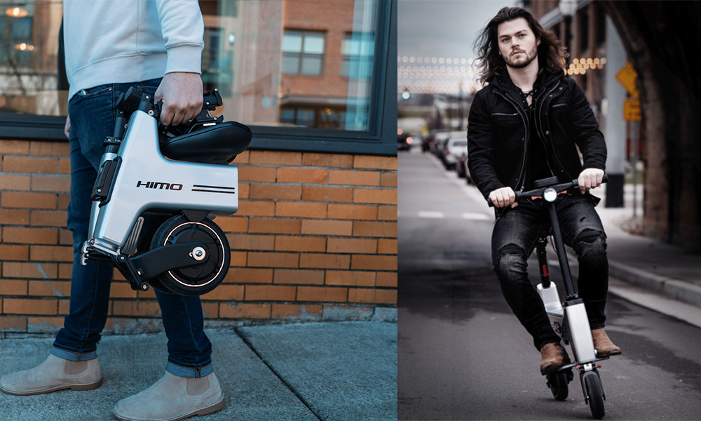 Ce scooter électrique pliable fait la taille d'un sac à dos