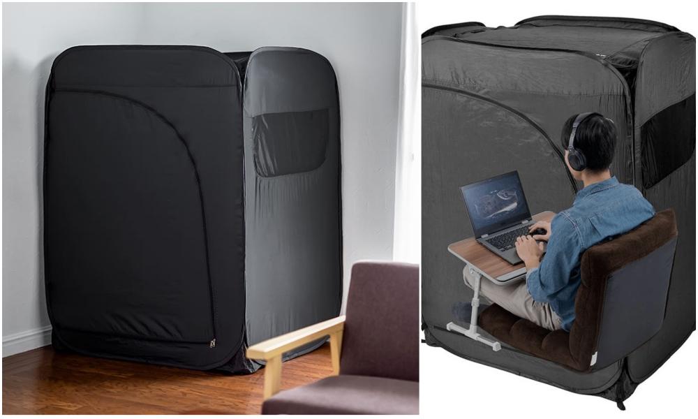 Pour bosser au calme à la maison, il y a cette tente spécial télétravail