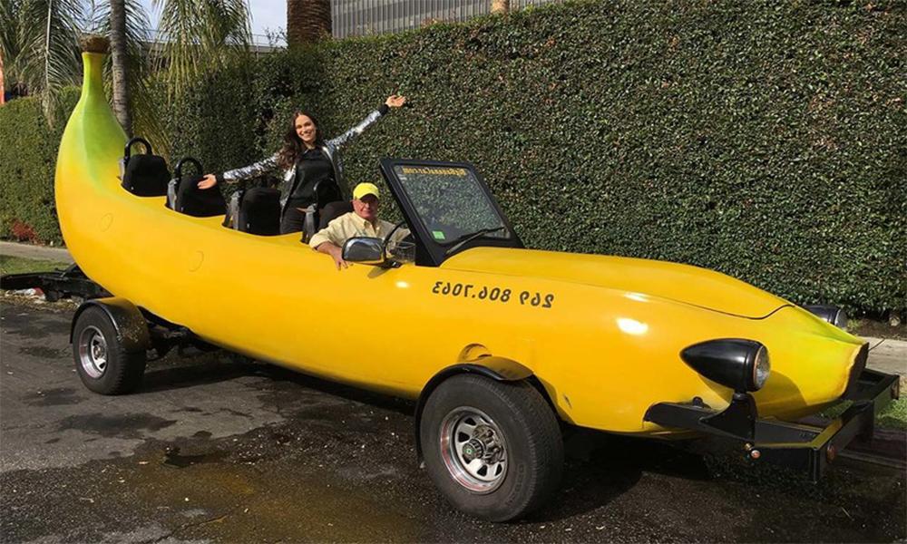 Voici la plus longue voiture banane au monde