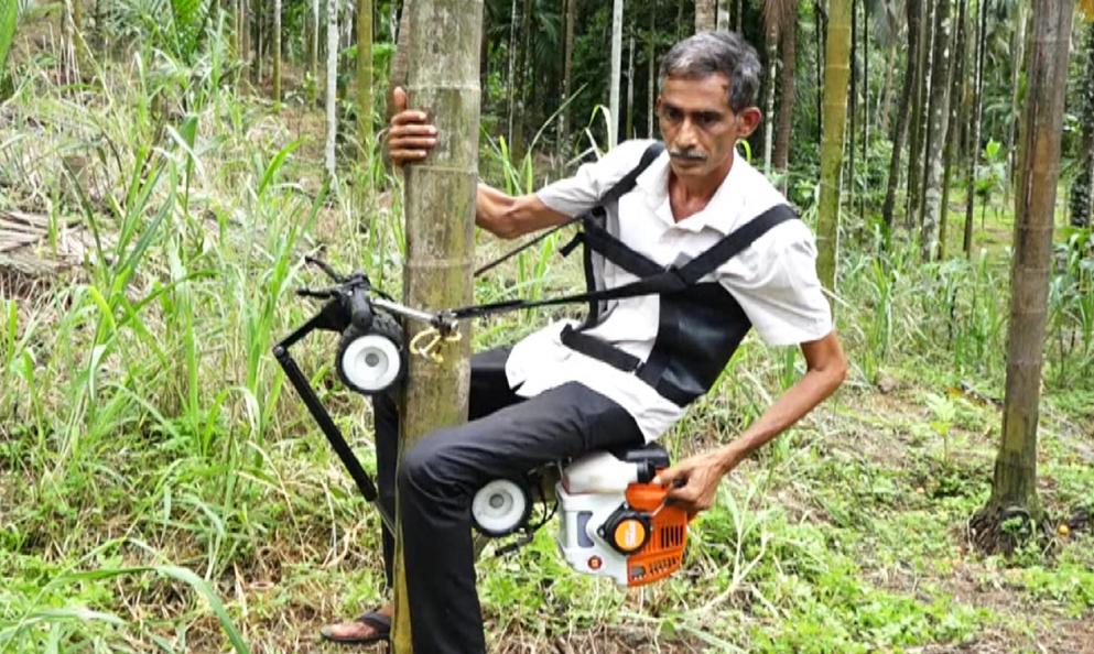 À 60 ans, il invente un scooter pour grimper aux arbres