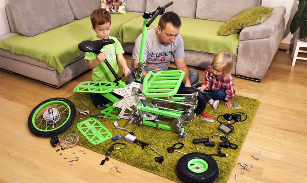 Dites bonjour au Gremlin, le tricycle électrique qu'on monte en famille