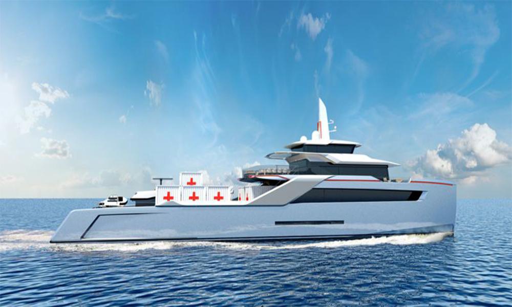 Ce yacht pour millionnaires sert à soigner les réfugiés