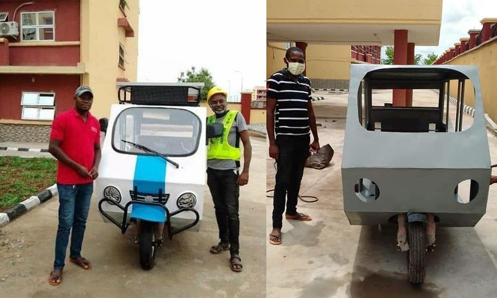 Ce Nigérian a construit un tricycle solaire en 3 semaines