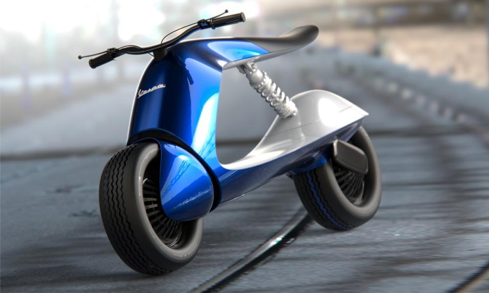 La dolce vita, c'est cet incroyable scooter Vespa venu du futur