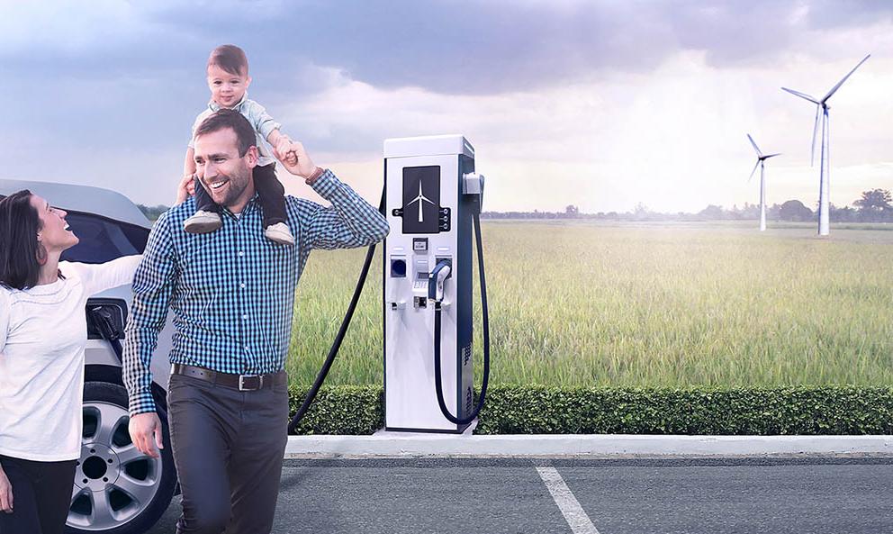 Bientôt, des éoliennes pour recharger les voitures électriques sur l'autoroute