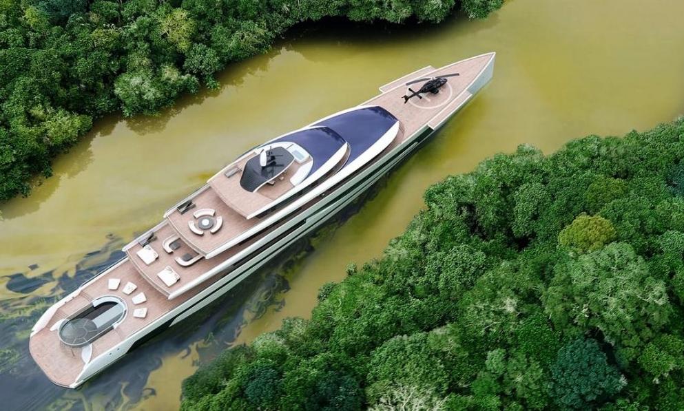 Kiwa : un super-yacht écolo plus grand qu'un terrain de foot