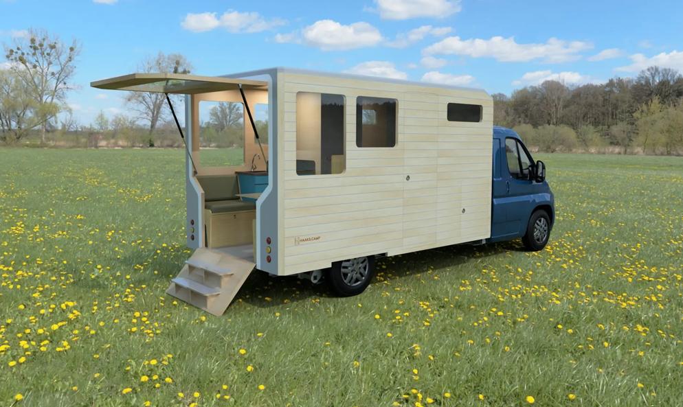 Moitié caravane, moitié tiny house : cette maison peut rouler partout