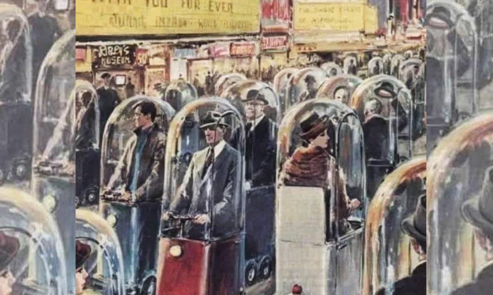 Voilà 60 ans, il imaginait des capsules électriques pour nos déplacements confinés